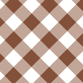 Gingham Brown