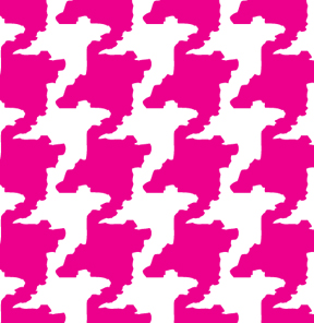 Houndstooth Pink
