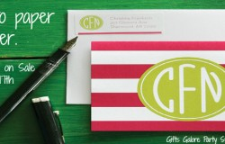 Put pen to paper this summer with custom stationary from Gifts Galore Party Store.